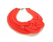 Neon Color Nautical Statement Collar Necklace