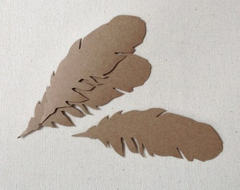 Diecut feather tags