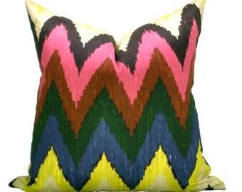 Adras Ikat pillow cover in Jewel