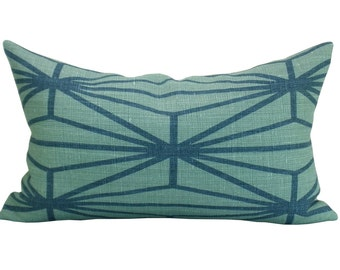 Katana lumbar pillow cover in Jade/Teal