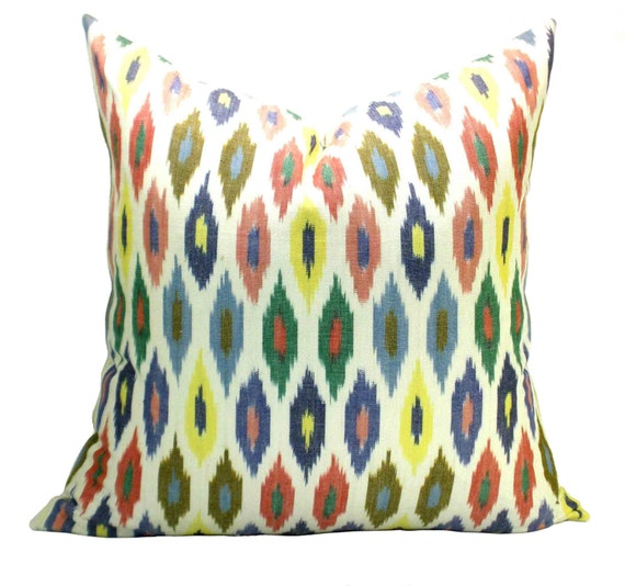 Schumacher Sunara Ikat pillow cover in Confetti