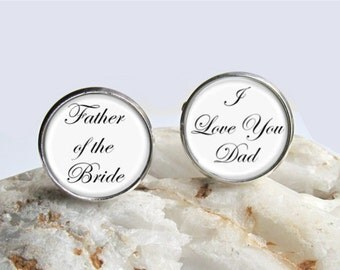 Wedding Cufflinks, Father Of The Bride, Keepsake Gift For Dad