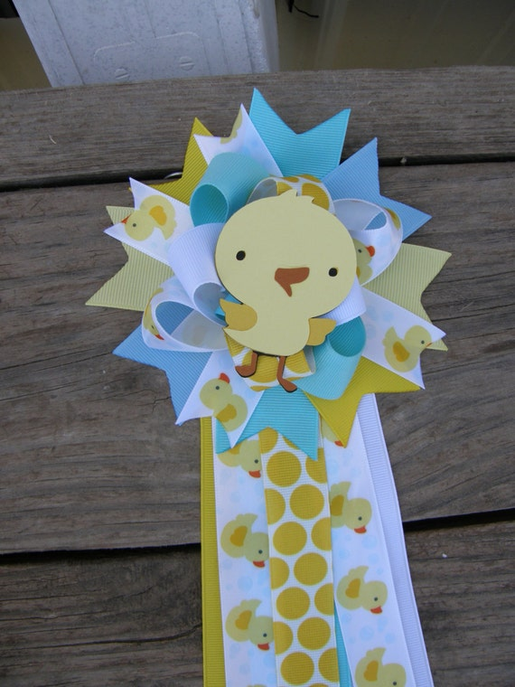 Baby Shower Duck Duck Corsage Rubber Duck Baby Shower