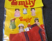 Vintage 1978 Joan Walsh Anglund Doll Dress-Ups for Emily Bathing Costume  no 4335 New kitschy cute fashion