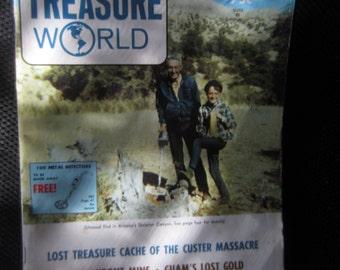 Long John Latham's NOV 1972 TREASURE WORLD metal detector magazine Cache of Custer Massacre Kitschy