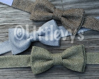 bow tie for kids - Bow tie for Boy - Baby Bowtie - gray bow tie - brown bow tie - bowtie for kids - army green bow tie - gray bow tie