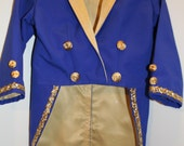 Beast Costume - BLUE Tuxedo Jacket - Prince Costume Tailcoat Beauty and the Beast Tuxedo