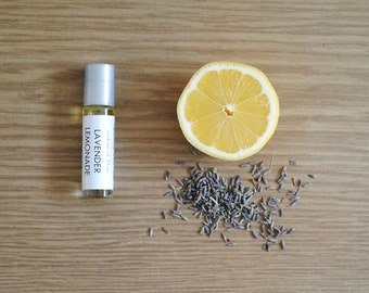 Lavender Lemonade Perfume Oil, Roll On Scent Lemon Citrus Floral Fragrance Essential Oil