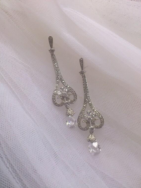 Wedding Earrings, Bridal Earrings, Crystal Bridal Earrings, Crystal Wedding Earrings, Bridal Drop Earrings
