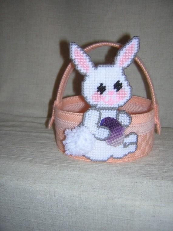Peach Bunny Basket