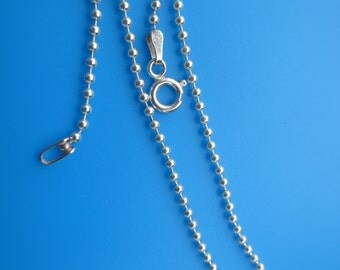 Anklet Silver 925 Ball Finished Chain 9""