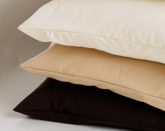 Raw Silk Pillowcase Standard, Non-Dyed, Natural Color, Hypoallergenic, Antimicrobial, for Skin and Haircare