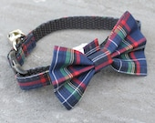 Cat Collar - Cozy Green - Matching Bow Tie and Flower Available