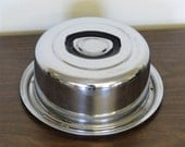 SALE Mid Century Vintage Stainless Steel Round Cake Carrier Everedy Company USA