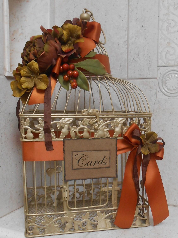 special listing for april only birdcage wedding card holder