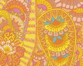 LAMINATED cotton (aka oilcloth) fabric by the yard - Belle epoch yellow yardage Kaffe Fassett BPA free WIDE