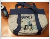 Penguin Tote Bag Purse, Small