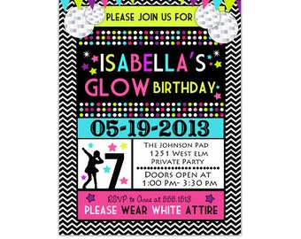 neon party invitation idea  fiesta     neon party, Party invitations