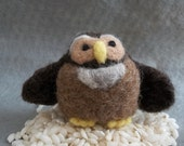 Owen Owl Felted Figurine