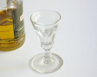Antique Barware, Deceptive Dram, Liqueur Glass, Conical Bowl, English Barware, Stemware, Circa 1820, Collectible, Man Cave