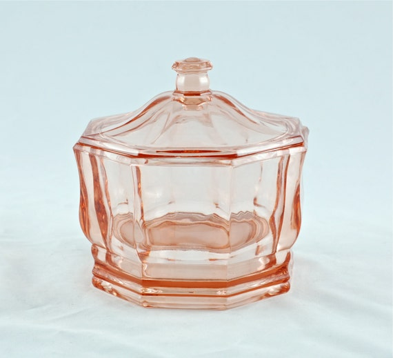 Vintage Pink Indiana Glass Concord Candy Dish