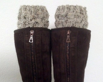 Boot cuffs /  Boot socks /  Short Leg warmers / Boot tops for girls, teens, women - OATMEAL - (more colors available)