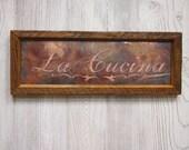 La Cucina framed copper wall plaque