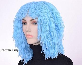 Wig Hat Pattern  Clown Wig Pattern Emo Wig Pattern Pastel Goth Crochet Pattern