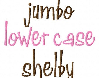 """JUMBO Shelby Lower Case Letters - Machine Embroidery Font - Sizes 5"""",6"""",7"""" - BUY 2 get 1 FREE"""