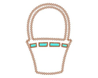 Basket - Applique - Machine Embroidery Design -  2 Styles - 6 Sizes