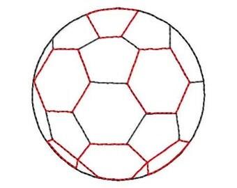 Soccer Ball - Reverse Applique - Machine Embroidery Design - 9 Sizes