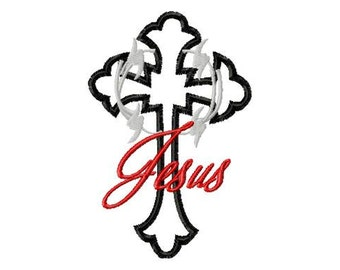 Cross-Wire-Jesus - Machine Embroidery - 8 Sizes