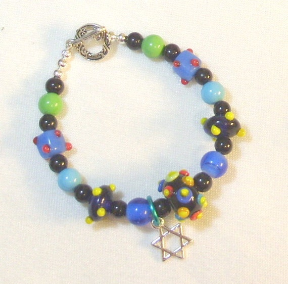 multi colored lwork beaded bracelet
