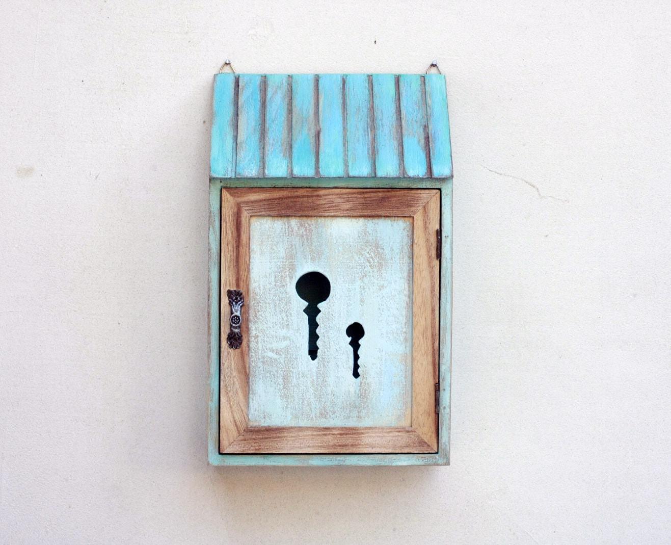 Wooden Key Box Holder Wardrobe Key Cabinet Key Storage Box Key