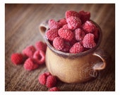 Raspberries-fine art food photography for the kitchen, cook, foodie, baker, restraunt, country minded art lover
