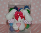 """Handmade Unique Molded Easter Carrotsbunny Candy Gift Box (clear resin box measures 4"""" x 2"""")"""