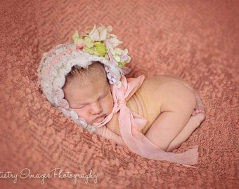 new born bonnet,photo prop,baby girl hat
