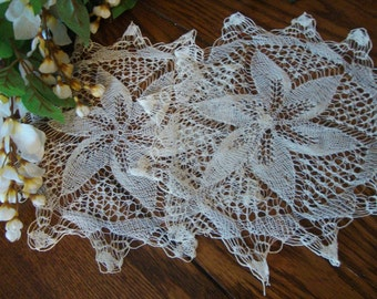 Spider Web Doilies Fine Needlework Antique Doilies Pair