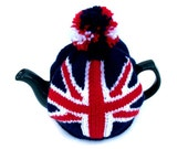 Union Jack tea cosy cozy for a medium  pot. Made to order.