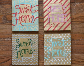 Sweet Home Alabama Wood Painting - Pick Your Pattern