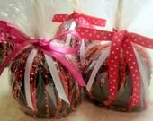 Valentine's Day Chocolate Caramel Apples - 3 pack