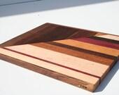 Beautiful One of A Kind Multi Wood Cutting Coard