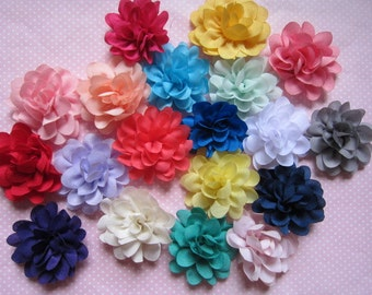 "10 Satin silky 2"" Flower-Mix D007"