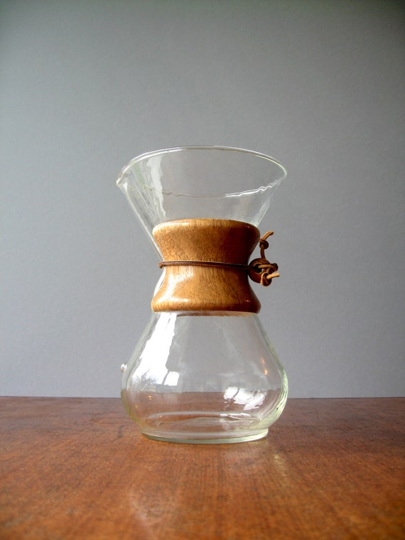 Vintage Chemex Coffee Maker / Carafe 30 Ounce by luola on Etsy