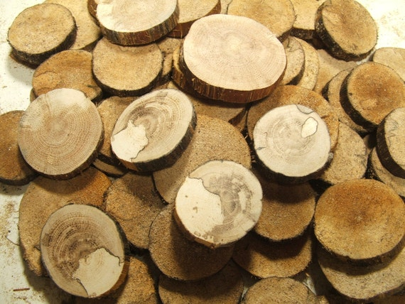 Wood Supplies 50 Spalted Oak Slices. Button and Bead blanks. Supplies for all your Crafts and Projects. Oak flowers.