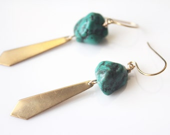 Turquoise & Gold Drops