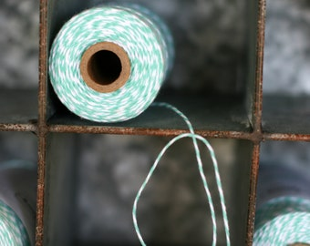 Bakers Twine Caribbean full spool 240 yards, aqua bakers twine, cotton bakers twine, bakery twine, cotton string, aqua twine