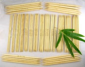 15 sizes 20cm/8 inches Double Point Knitting Bamboo Needles 5 set, Total 75 Pcs