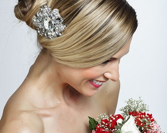 SALE crystal wedding bridal flower haircomb ,brooch