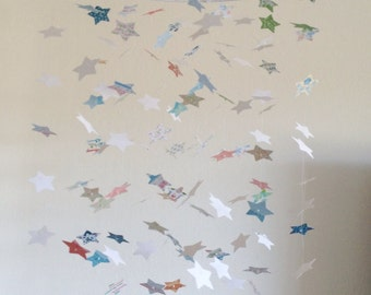 Whimsy Shabby Chic Star Mobile / / / Nursery Decor, Photo Prop, Baby Shower Gift